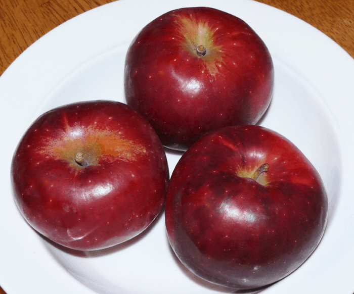 Delicious winesap apples from Golden Acres Orchard.